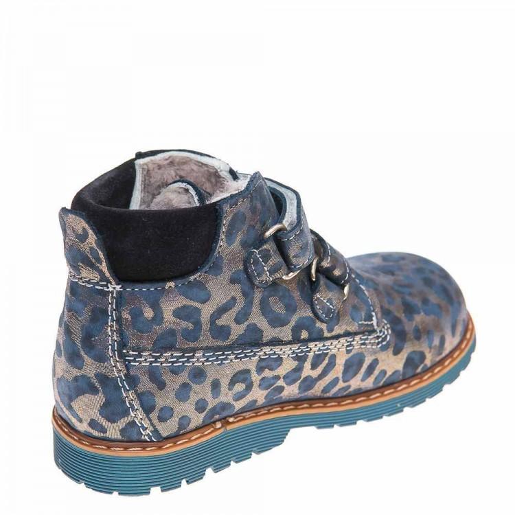 Зимние ботинки Panda 9005(387)синий леопард (31-36)