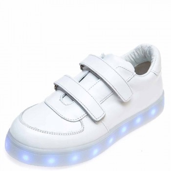 Кроссовки LED OCAK 104(05)белая кожа (31-36)