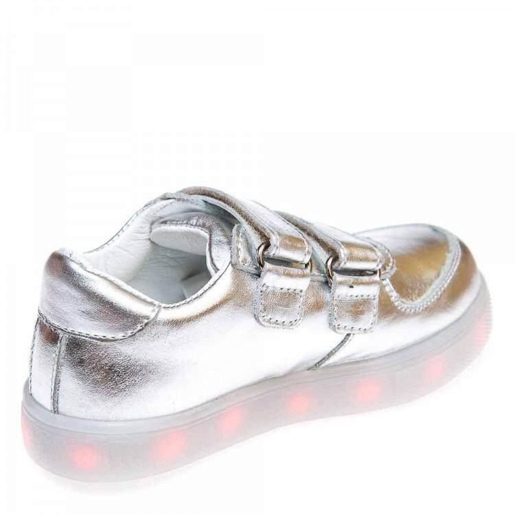 Кроссовки OCAK 104(04)серебро кожа (37-40)