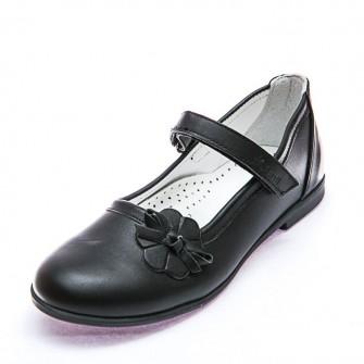 Туфли Sibel Bebe T659 чёрн цветочек