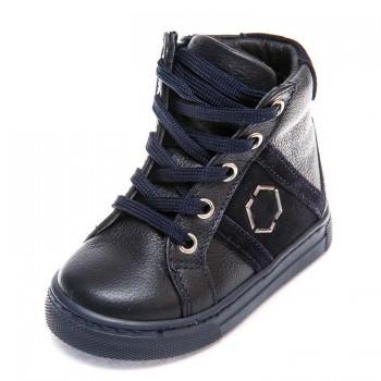 Ботинки д/с 336 PP (21-25) синие шнурок