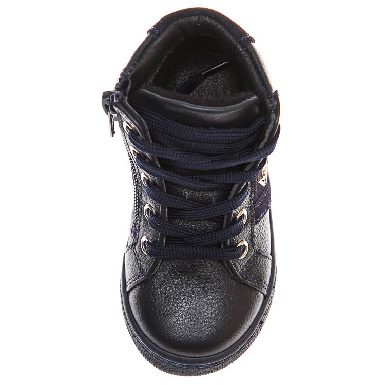Ботинки д/с Minibel 336 PP (21-25) темно-синие шнурок