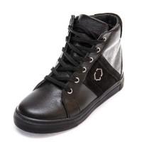 Ботинки д/с 336 PP (31-36) черные шнурок