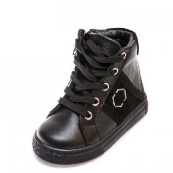 Ботинки д/с 336 PP (21-25) черные шнурок