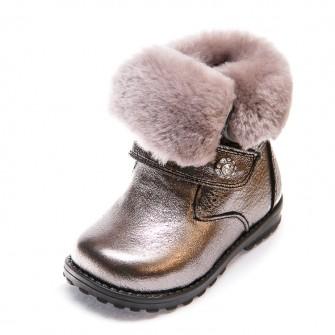 Зимние ботинки Panda 80 (21-25)черное серебро