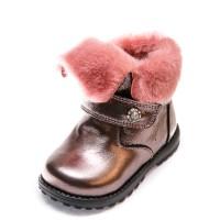 Ботинки зима 080 розовое серебро(21-25)