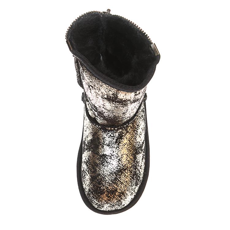 Угги Ankara 181055 черные золото змейка