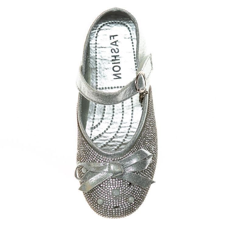 Балетки Fashion B-3 серебро(32-37)