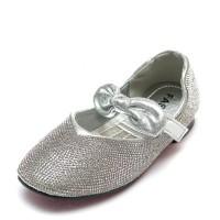 Балетки Fashion B-5 серебро (32-37)