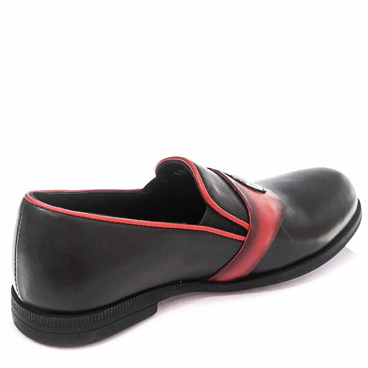 Туфли Minibel T101(27-34)D чёрн/красн (31-36)