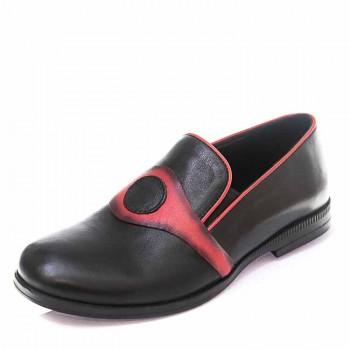 Туфли Minibel T101(27-34)D чёрн/красн (26-30)