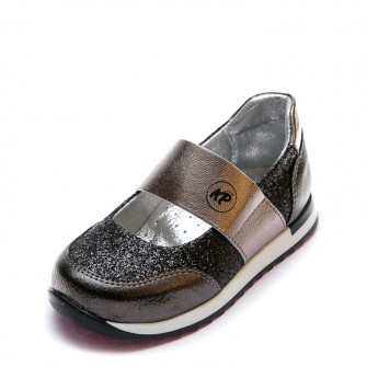 Открытые туфли K.Pafi 18325(05)(22-25)чер.серебро резинка