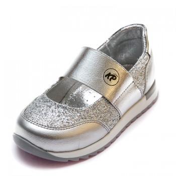 Открытые туфли K.Pafi серебристые для девочки