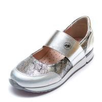 Туфли 19910(31)(31-36)серебро резинка