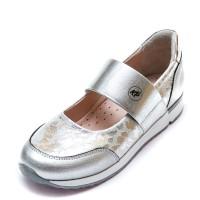 Туфли K.Pafi 19910(28)(31-36) белое серебро резинка