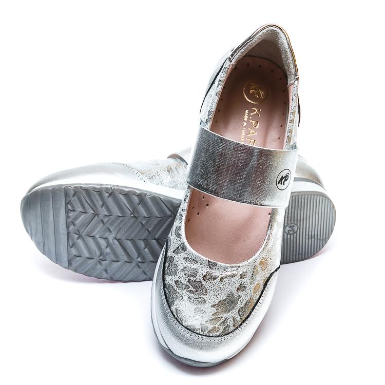 Открытые туфли K.Pafi 19910(28)(31-36) белое серебро резинка