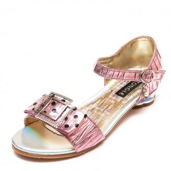 Босоножки Fashion A15(32-37)розовые каблук