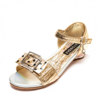 Босоножки Fashion A15(32-37)золото каблук