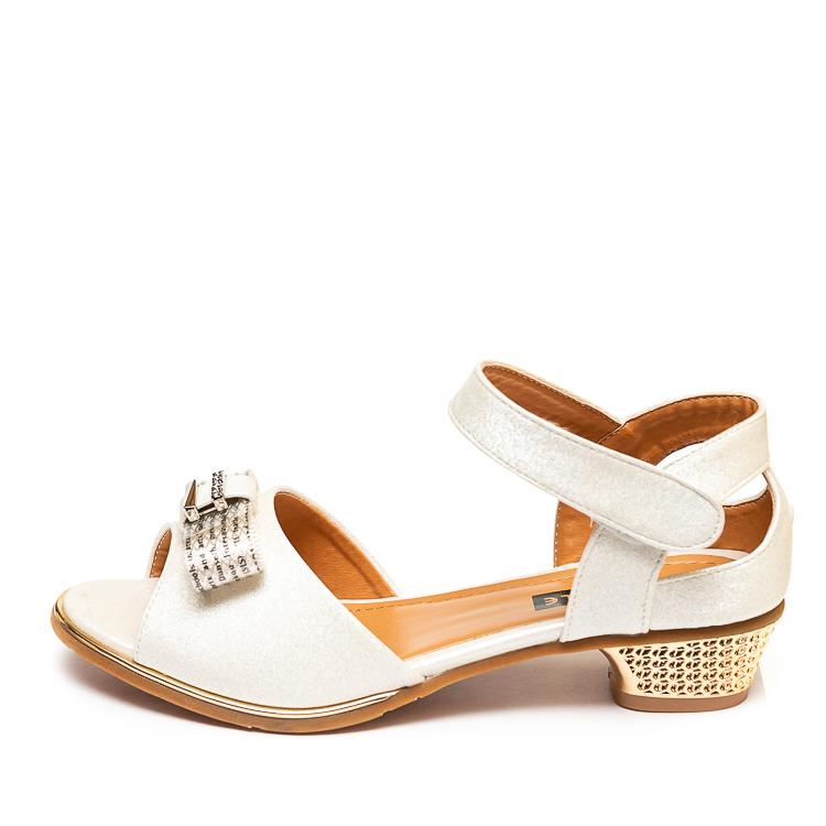 Туфли Fashion A02(32-37)бел.золото каблук