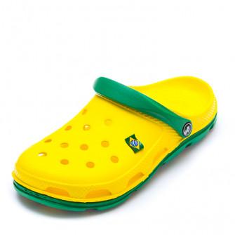 Шлёпки Кроксы 116113 жёлт/зел