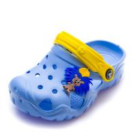 Шлёпки кроксы Jose Amorales 117074 голуб/желт
