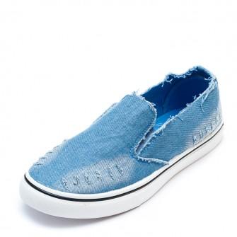 Слипоны 6057 Голубой джинс