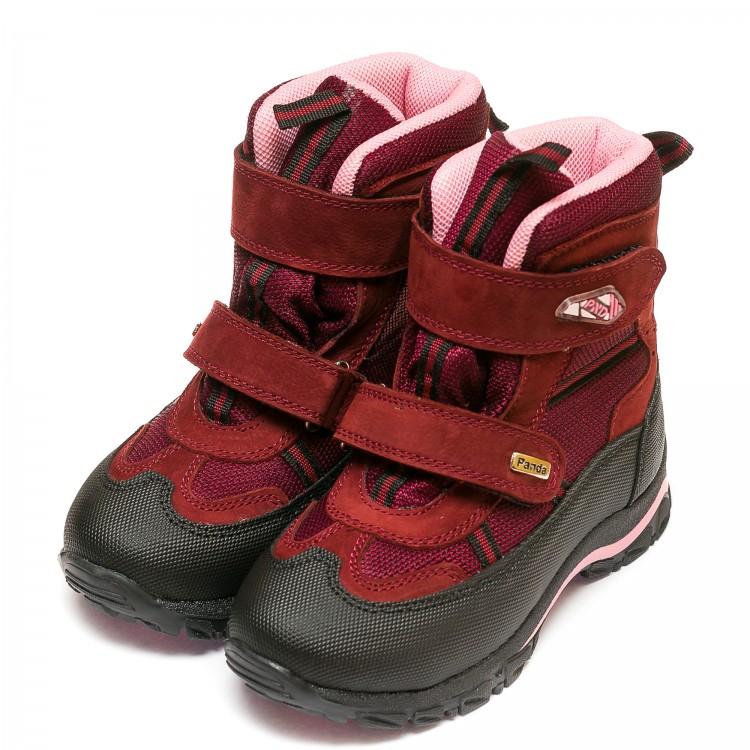 Термо ботинки Panda бордовые