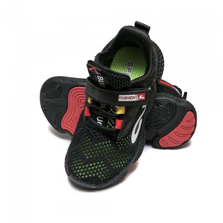 Кроссовки Babugao чёрные для мальчика