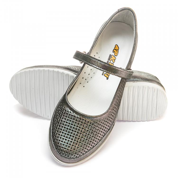 Туфли K.Pafi графитовые для девочки