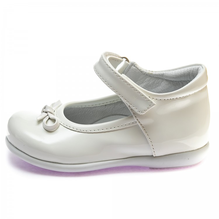 Туфли Sibel Bebe122 бел лак (22-25)