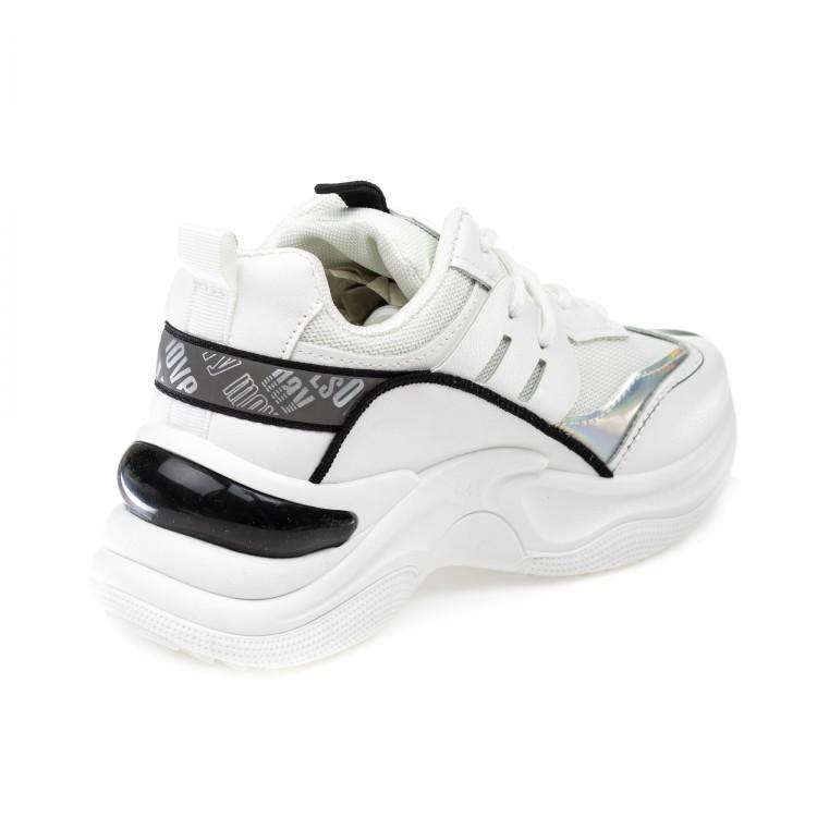 Кроссовки Fashion YH88(36-41) бел/черн