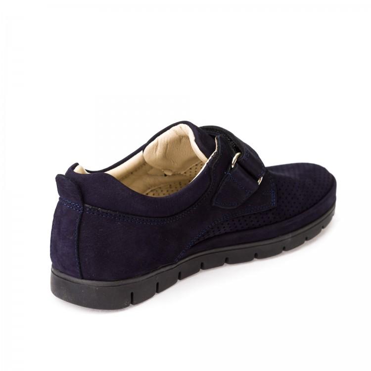 Туфли Panda 158F (128-05-21-44)  синий нубук (31-36)