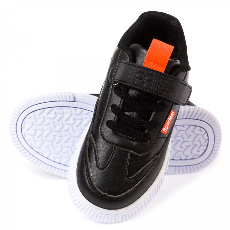 Кроссовки 33015 черные (31-37) KT