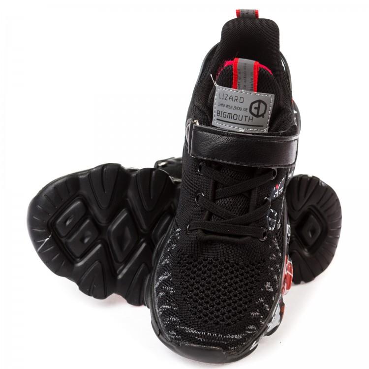 Кроссовки Fashion L9635 черно/красн.(32-37)