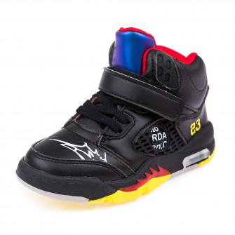 Кроссовки высокие Fashion чёрные для мальчика