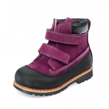 Ботинки д/с Panda 200B(01) сир.черн.(21-25)