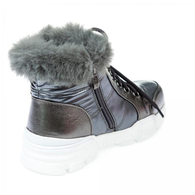 Ботинки зимние Fashion серебристые