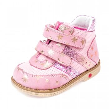Ботинки д/с Panda 0011011розовые(18-20)