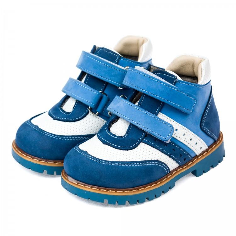 Ботинки д/с Panda 0011011(голубые) (18-20)