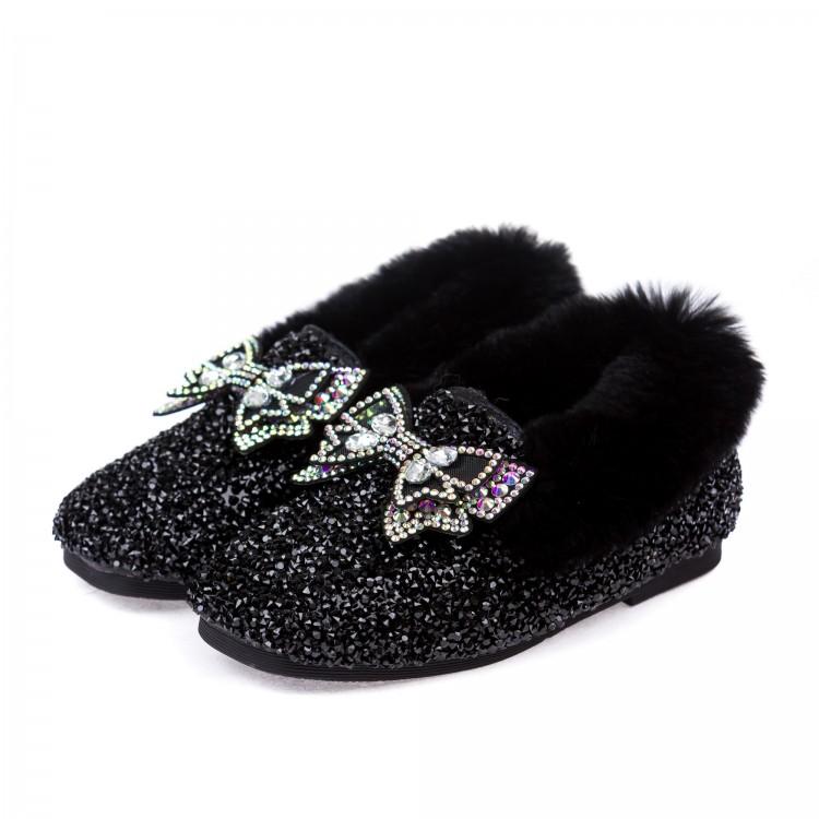 Туфли Fashion M595 мех.черные
