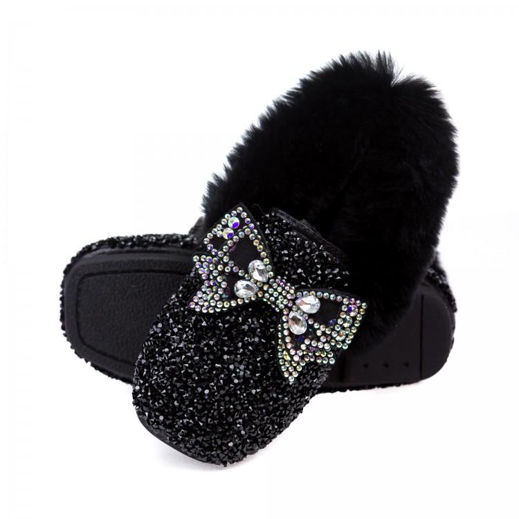 Туфли Fashion M595-1 мех.черные