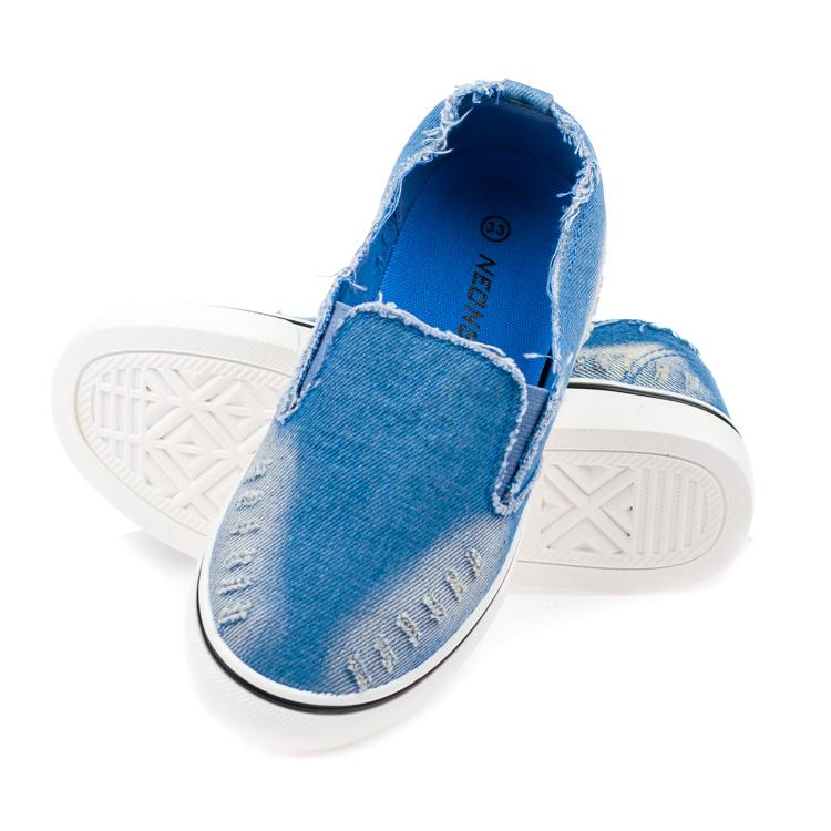 Слипоны Neon 6057/0080 Голубой джинс