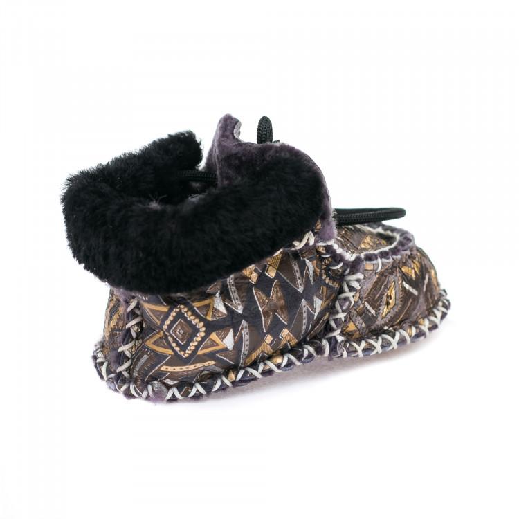 Пинетки зима Ankara baby черный с коричневым