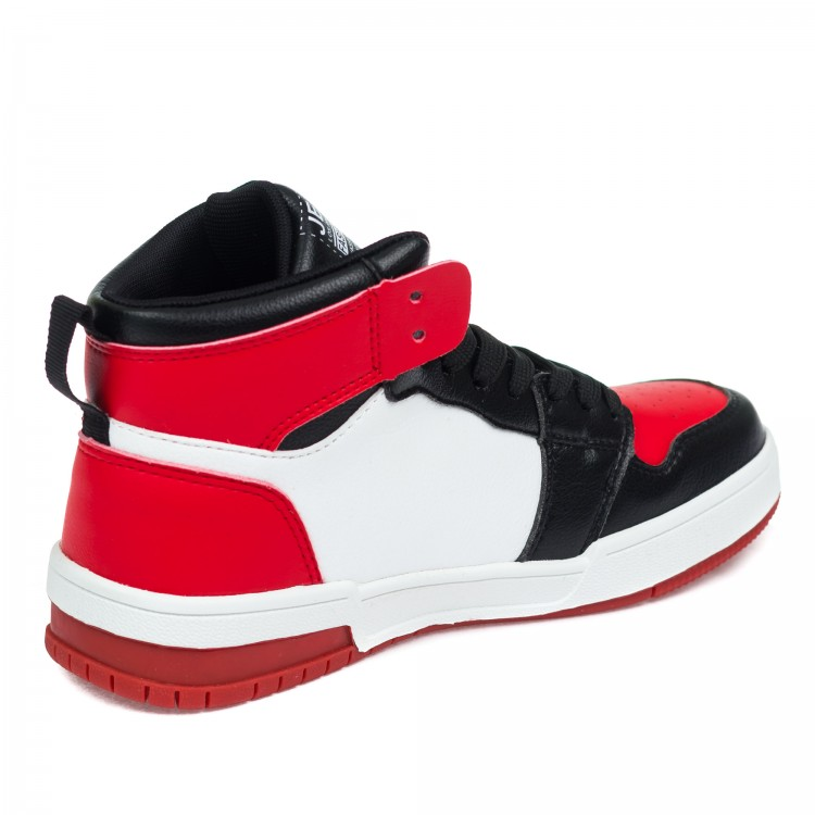 Кроссовки высокие Fashion 2620 черн-крас (36-40)