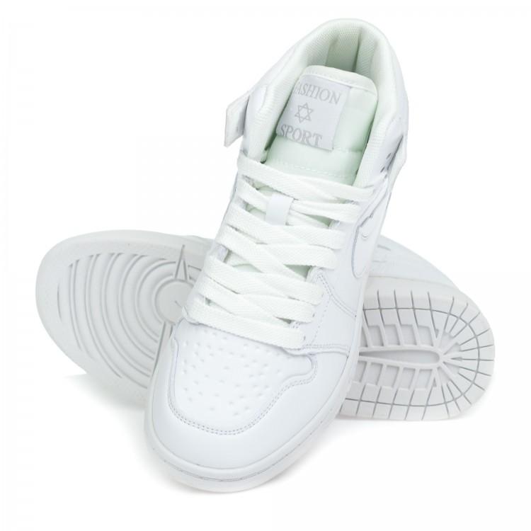 Кроссовки высокие Fashion j085-1 бел (36-40)