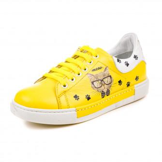 Кроссовки OCAK 110106-F(215-205) желтые (31-36)