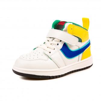 Кроссовки Fashion высокие G03BN1503 белый (26-30)