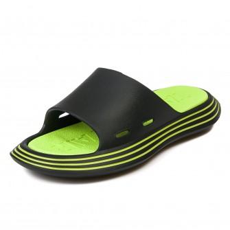 Шлёпки Fashion X9020-1 (черн/зелен) (35-40)