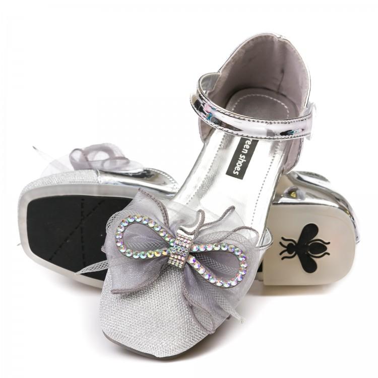 Босоножки Fashion 1212 серебро (31-36)