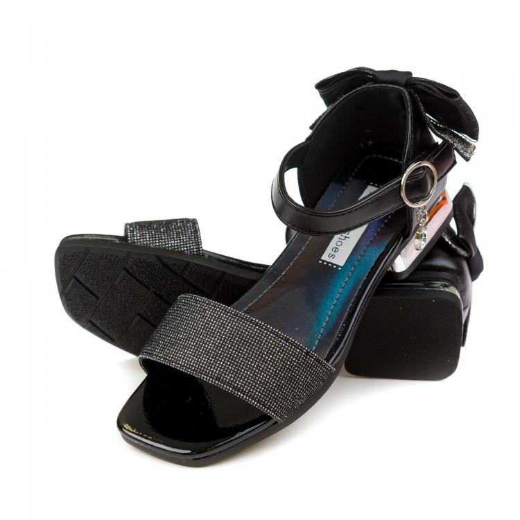 Босоножки Fashion Z1075 черн/сереб (31-36)